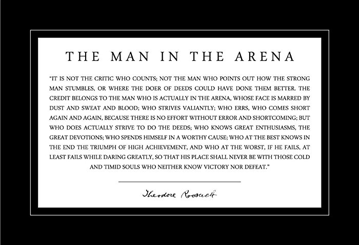 The Man In The Arena - TR